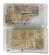 Stampin' Up! Nice & Easy Notes '96 & Feathered Friends '99~Rubber Stamps... - $9.90