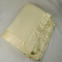 "North Star Yellow Vintage Baby Soft Crib Blanket Acrylic Satin Trim 40"" ... - $29.65"