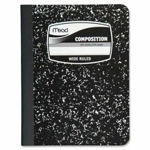 """Mead Composition Book,wide Ruled,100 Sheets,7-1/2""""x9-3/4"""",black Case Pac... - $49.97"""