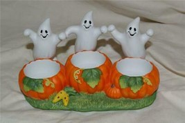 PartyLite Ghost Trio Tealight Holder Party Lite RETIRED (m) - $14.99