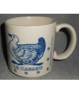 1984 Taylor & Ng LE CANARD Blue/White 12 oz MUG San Francisco - $19.79