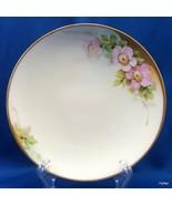 PT Bavaria Everett Studio Porcelain Plate Hand Painted Pink Floral Gold ... - $19.80