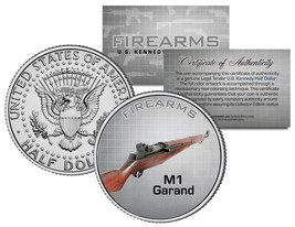 M1 GARAND Gun Firearm JFK Kennedy Half Dollar US Colorized Coin - $8.86
