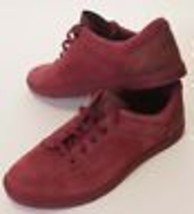 UGG Australia Bueller Mens Burgundy Red Suede Leather Oxford Shoes Sneakers 10.5 - $55.99