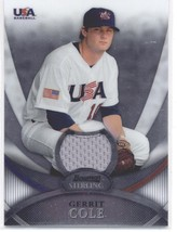 2010 Bowman Sterling USA Baseball Relics #USAR24 Gerrit Cole - Collegiate Nation - $18.46