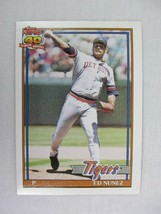 Ed Nunez Detroit Tigers 1991 Topps Baseball Card 106 - $0.98