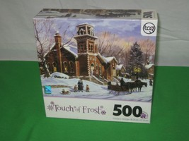 Sure-Lox Brand 500 Piece Puzzle Touch of Frost Sunday School - $8.86