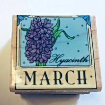 March Birthday Flower Rubber Stamp Hyacinth Calendar Month Hero Arts 1995 Rare - $9.88