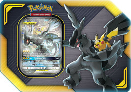 Pokemon TCG Tag Team Tin Pikachu & Zekrom GX 4 Booster Packs Sealed  - $31.95