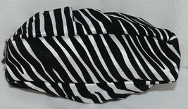 Natalie Brand 404MZE Black White Zebra Striped Clutch Removable Shoulder Strap image 2