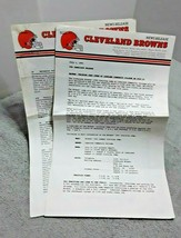 1991 Cleveland Browns Official News Release Public Relations  - $7.91