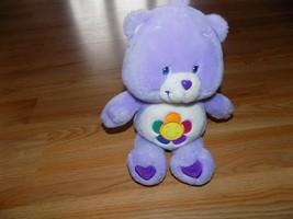 "Talking Harmony Care Bear Plush 2003 13"" Purple Flower Tummy Stuffed Ani... - $24.00"