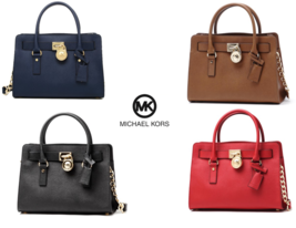 MICHAEL KORS Hamilton Saffiano Medium Bag for Woman with Free Gift - $255.00