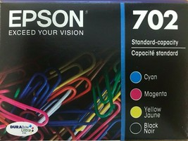 EPSON - 702 - DURABrite Ultra 702 Ink Cartridge - Black, Cyan, Magenta, ... - $79.15