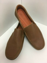 Tommy Bahama Mens Brown Nassau Venetian Leather Loafers Driving Shoes Sz... - $46.74