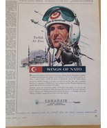 CANADAIR Wings of NATO Turkish Air Force Vintage Ad Aircraft Sabre Canad... - $8.65