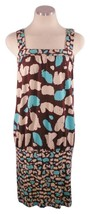 Diane Von Furstenberg Sz 6 Sleeveless Brown Blue Cream Tank Shift - $42.07