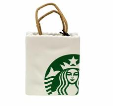 NEW  Starbucks Ceramic Starbuck's Bag Ornament / Gift Card Holder - $19.49