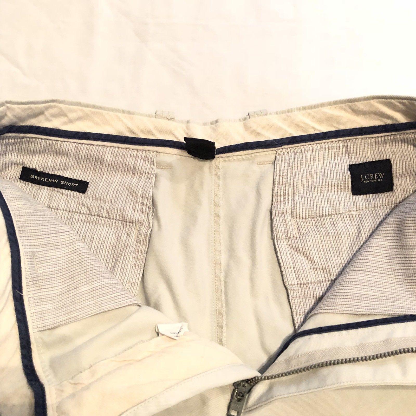 "J Crew Mens Shorts 30 Waist Khaki ""Broken-In Short"""
