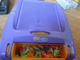 Lite Brite Purple Flat Screen Hasbro 2003 Screen and bulbs - $4.94