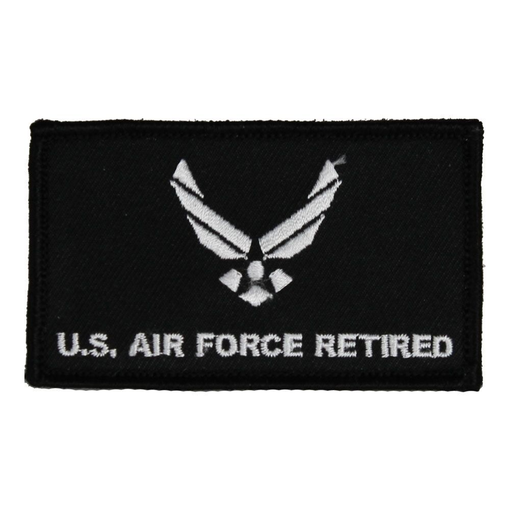 Primary image for AIR FORCE RETIRED 2 X 3  EMBROIDERED MILITARY PATCH WITH HOOK LOOP