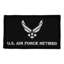AIR FORCE RETIRED 2 X 3  EMBROIDERED MILITARY PATCH WITH HOOK LOOP - $15.33