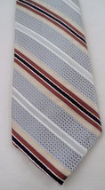 100% Silk Robert Talbott Nordstrom Power Tie Necktie Silver Brown Gold S... - $8.86