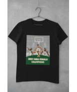 MILWAUKEE BUCKS 2021 NBA Finals Champs Black T-Shirt Giannis Size Large ... - $12.99