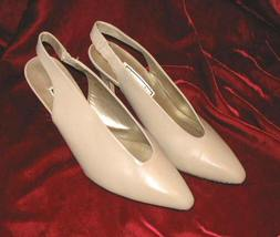 Like New Tan Jasmin Leather Shoes Pump Heel 8.5 - $9.99