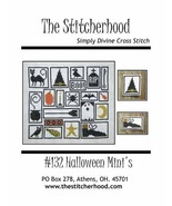Halloween Minis primitive cross stitch chart The Stitcherhood - $8.10