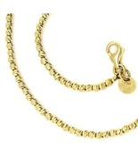 "18K YELLOW GOLD CHAIN FINELY WORKED SPHERES 2 MM DIAMOND CUT BALLS, 18"",... - $735.00"