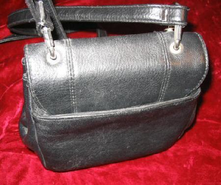 Nice Black Leather Handbag Shoulder Bag Purse Wallet
