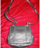 Nice Black Leather Handbag Shoulder Bag Purse Wallet - $12.85