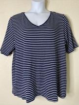 Lane Bryant Womens Plus Size 22/24 Blue Striped Pretty & Perfect T-Shirt... - $15.84