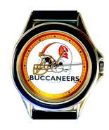 Tampa Bay Buccaneers NFL Fossil Relic Unworn Watch, Silver Tone Black In... - $74.10