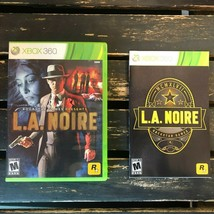 LA Noire Microsoft Xbox 360 RockStar Video Game 2011 Complete Manual Mafia USA - $10.88