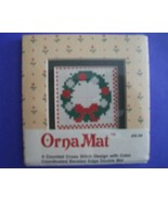 Mini Xmas Wreath Ornamat cross stitch chart wit... - $6.00
