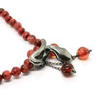925 Silberne Halskette mit Schlange Brüniert und Jaspis, Made in Italy By image 4