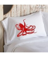 Two (2) Giant Ruby Red Octopus Nautical Pillowcase - $19.99