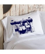 Two (2) Navy Blue Buoys Nautical Pillowcases - $19.99