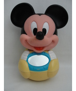 Disney 1984  Mickey Mouse Roly Poly Chime Vintage Baby Musical Yellow Bl... - $59.99