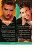 Ryan Phillippe Jonathan Taylor Thomas teen magazine pinup clipping together Bop