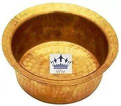 Kitchen Utensil Brass Patila Tope Cooking Topia Bhaguna Capacity 4 Liter  - $52.99