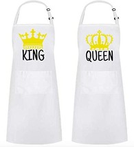 McKindly King & Queen Aprons Wedding Engagement Gift for Couples Bridal ... - $21.80
