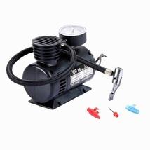 Portable Mini Auto Electric Air Compressor W/Gauge (300 PSI / DC 12V)  - $19.05