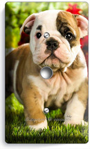 Cute French Bulldog Puppy Dog Light Dimmer Cable Wallplate Cover Room Home Decor - $9.89