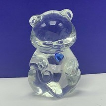 Fenton glass teddy bear figurine birthday stone sculpture December topaz... - $33.66