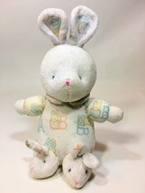 "Carters Baby Plush Rattle Bunny Rabbit A B Pink Blue Dots Lovey Security 8"" - $59.99"