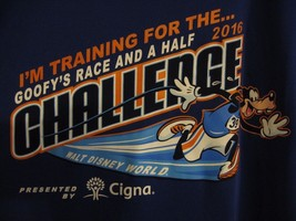 New Walt Disney World 2016 Goofy's Race and a Half Challenge Shirt Youth Medium - $13.99