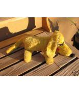Vintage Yellow DOG w/Floral Patchwork underside Plush - $25.00
